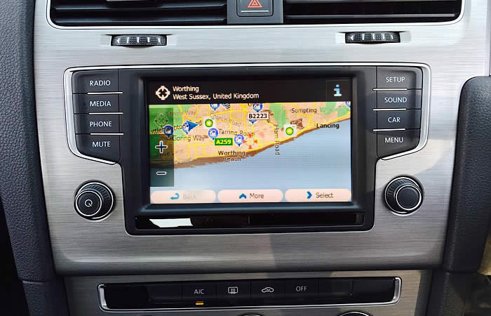 Highdown offer satnav and satellite navigation upgrades and installations, Worthing, Brighton, UK
